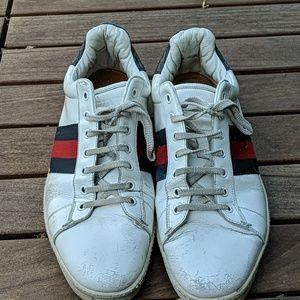 Worn Gucci Ace Sneaker